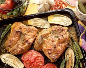 鶏もも肉のカレー焼き