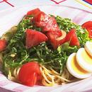 トマトとレタスのひんやりスパゲティ