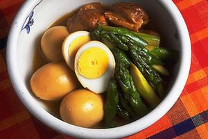 ゆで卵と鶏肉のしょうゆ煮