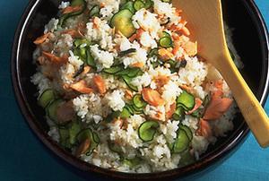 塩鮭ときゅうりの混ぜご飯