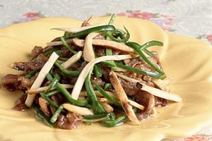 まつたけと牛肉の中国風炒め