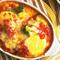 ゆで卵とブロッコリーのトマトグラタン