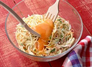 ハムときゅうりのサラダ風スパゲティ