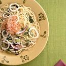 いかと野沢菜のスパゲティ