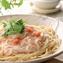 明太子と長いものスパゲティ
