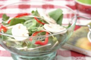 ほうれん草とマッシュルームのサラダ