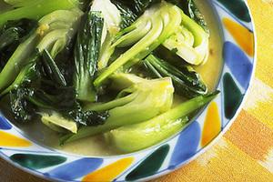 青梗菜の中国風炒め