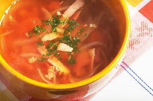 トマトとベーコンのスープ