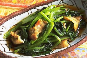 豚肉と小松菜の煮もの