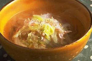 春雨と白菜の中国風スープ