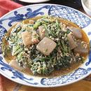 ほうれん草と鶏ひき肉のピリ辛炒め