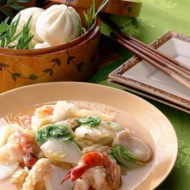 白菜と海鮮の中国風炒め