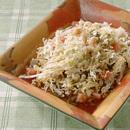 白菜とトマトのホットドレッシングサラダ