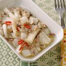 白菜のしんとアンチョビーの炒めもの