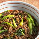 牛肉と青梗菜のすき焼き風