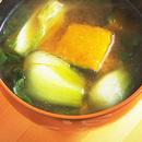 青梗菜とかぼちゃのみそ汁