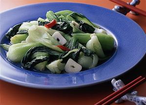 青梗菜の塩味炒め