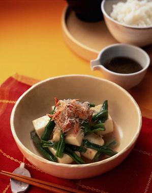 豆腐としし唐の和風ホットサラダ