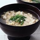 炒め豆腐のかきたま汁