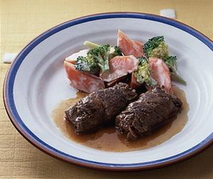 薄切り肉の和風ステーキ