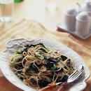 小松菜とじゃこの和風スパゲティ