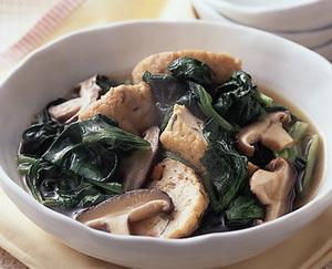 小松菜とがんもどきの煮びたし