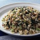 野沢菜と豚肉の炒飯