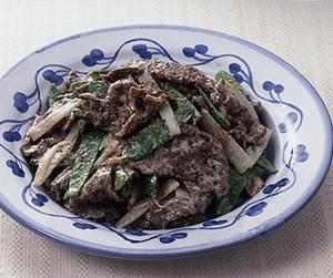 牛肉とうどのマヨネーズ炒め