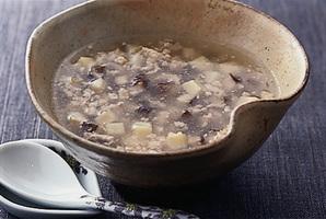 鶏ひき肉としいたけの中国風スープ