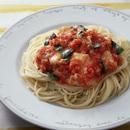 チーズ入りトマトソーススパゲティ