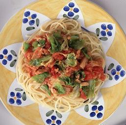 ツナとキャベツのトマトスパゲティ