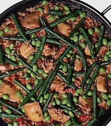 チキンと豆のパエリヤ