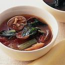 あさりと青梗菜のトマトスープ