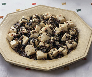 豆腐と高菜のピリ辛炒め