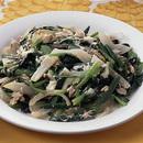 小松菜といんげんのマヨネーズ炒め