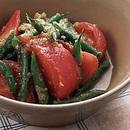 トマトといんげんのサラダ