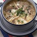 豚肉と豆腐のかきたまスープ