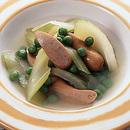 ソーセージとセロリのスープ煮
