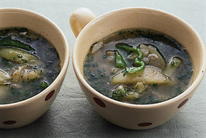 なすとピーマンのスープ