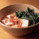 豆腐と春菊の煮びたし