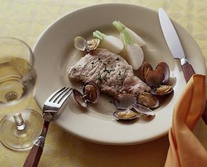 豚肉とあさりの蒸し煮