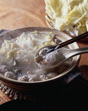 肉だんごと白菜の北京風鍋