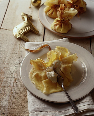 クリームチーズのクレープ