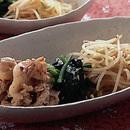 豚肉と野菜のナムル風