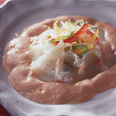 白身魚の明太子ソース