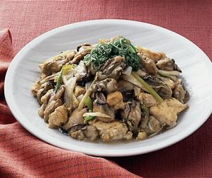 豆腐とかきの炒めもの