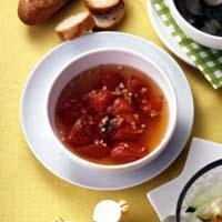 トマトのガーリックスープ