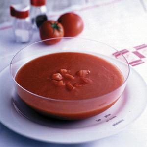 完熟トマトのスープ
