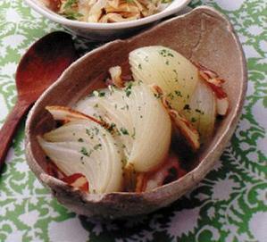 玉ねぎとベーコンのスープ煮