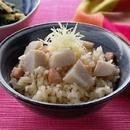里いもと豚肉の炊き込みご飯